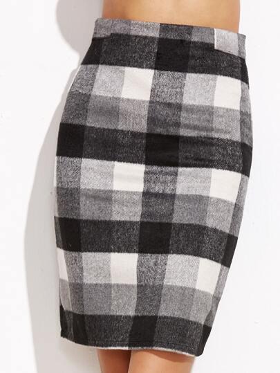 Falda de cuadros espalda con cremallera