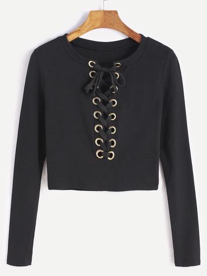 تي شيرت أزياء كلاسية - سوداء