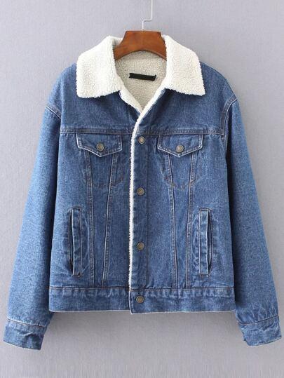 Blue Denim Jacket With Pocket