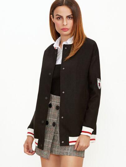 Чёрная модная куртка