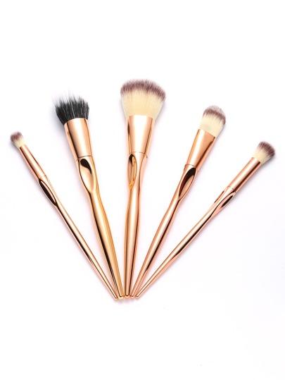 Rose Gold Metallic Makeup Brush Set 5pcs