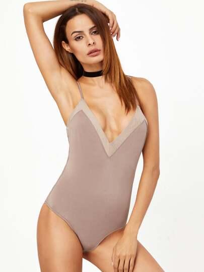 Body ribete en contraste - nude