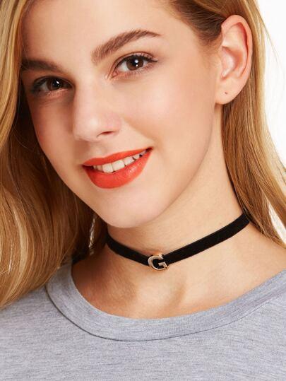 قلادة معدنية أزياء كلاسية - سوداء