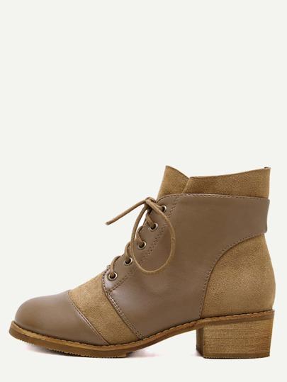 Бежевые ботинки на пробковых каблуках