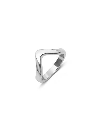Platinum Tone Geo Minimalist Rings