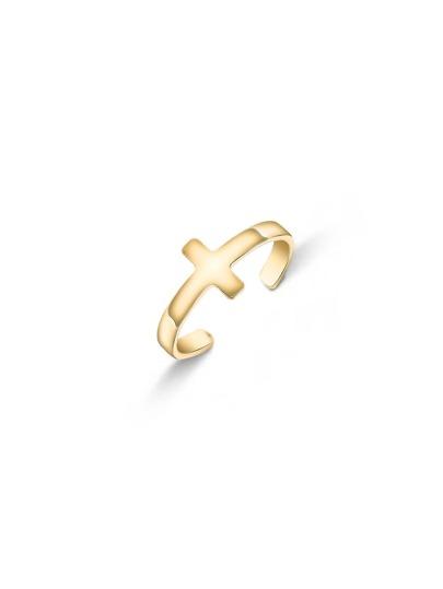 Gold Tone Cross Design Rings