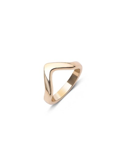 Gold Minimalist Geo Metal Joint Ring