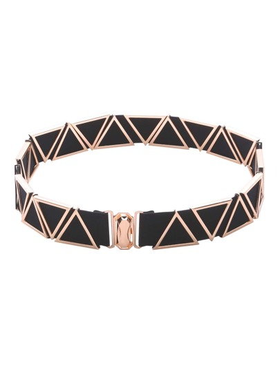 Gold Metal Triangle Elastic Belt