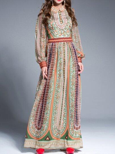 Robe de grand taille imprimé tribal -multicolore