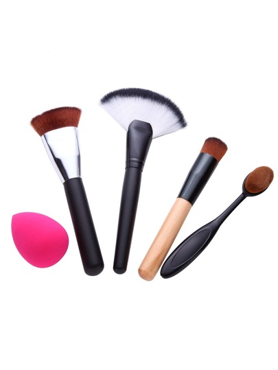 5PCS Brush Powder Puff Makeup Tool Set