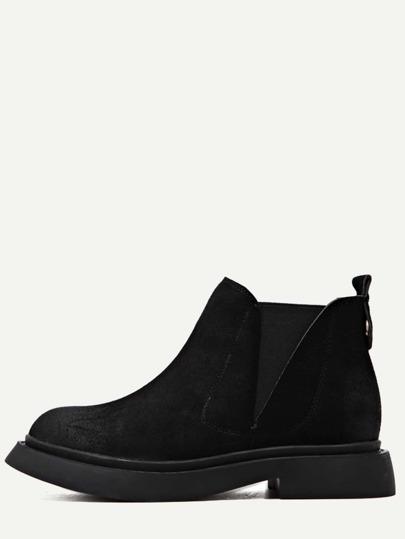 чёрные нубуковые ботинки