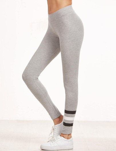 Leggings de rayas - gris