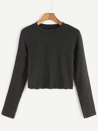 Camiseta corta de manga larga - negro