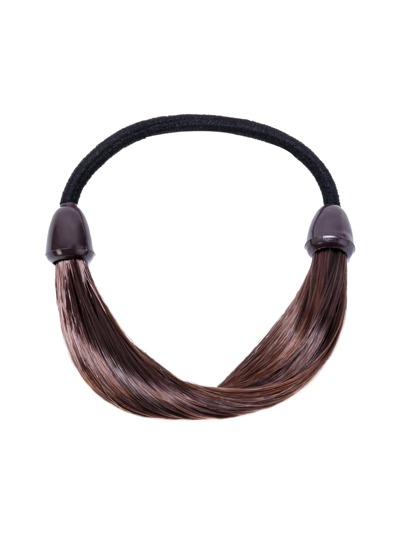 Coffee False Hair Elastic Hair Tie