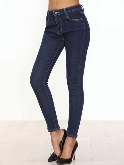 Blue Slim Denim Pants