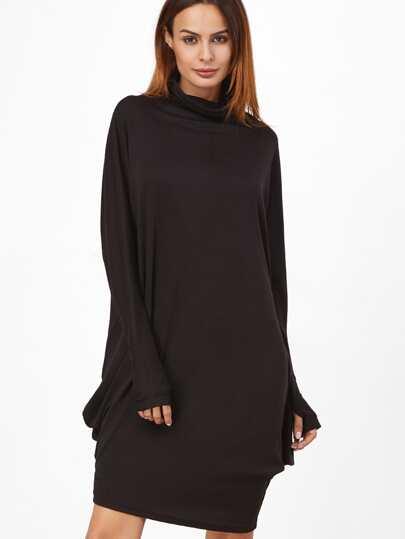 Чёрное модное платье