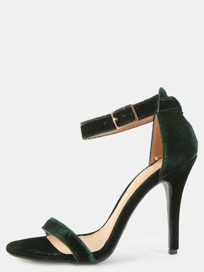 Stiletto Smooth Velvet Heels GREEN