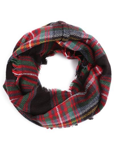 Красный клетчатый шарф