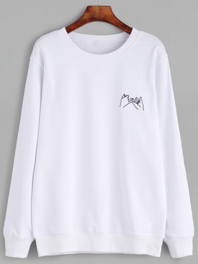 Gesture Print Sweatshirt