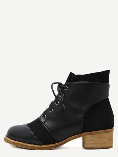 Чёрные ботинки на пробковых каблуках