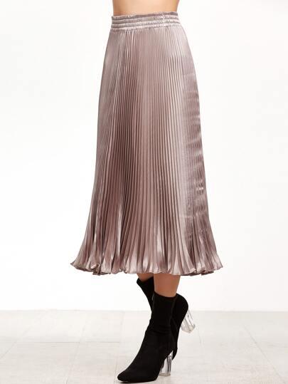 Light Rose Pleated Skirt