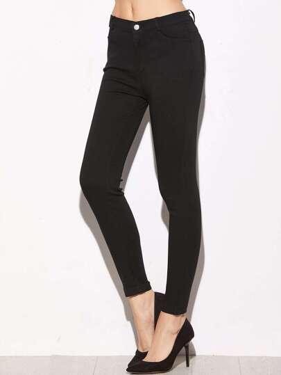 Skinny Knöchel Jeans-schwarz