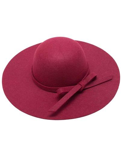 Cappello A Tesa Larga Con Nodo - Borgogna