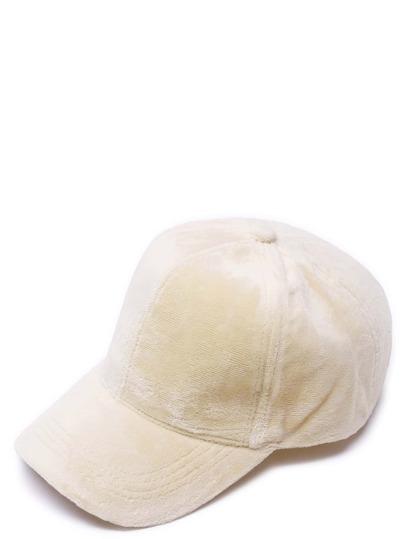 Cappello Di Baseballe Casuale Di Velluto - Beige