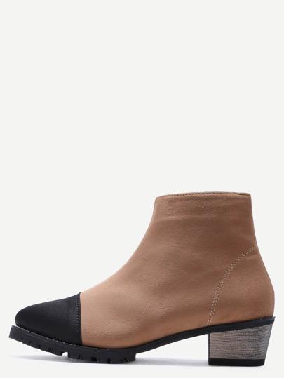 абрикосные замшевые ботинки на пробкавых каблуках
