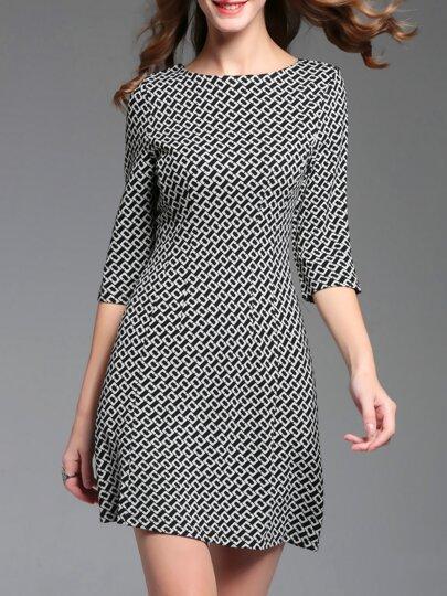 Robe à col roulé tricoté -noir