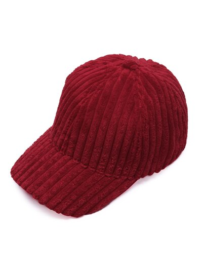 Casquette de base-ball douce en velours - rouge