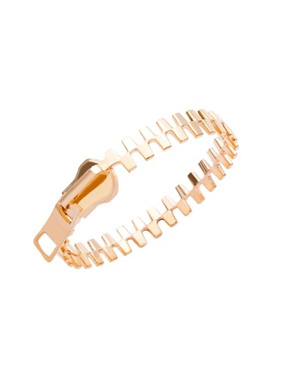 Gold Plated Zipper Design Bangle
