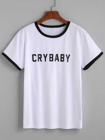 T-Shirt Ricamato Toppa Arcobaleno Rifilato - Bianco