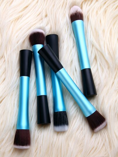 5PCS Blue Cosmetic Makeup Foundation Brush