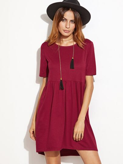 High Low Babydoll Dress