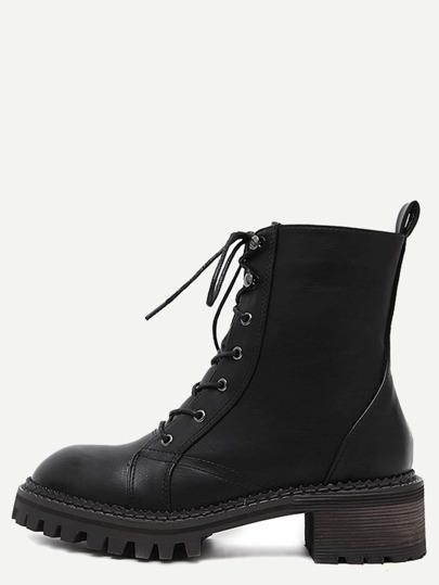 чёрные  круглые ботинки