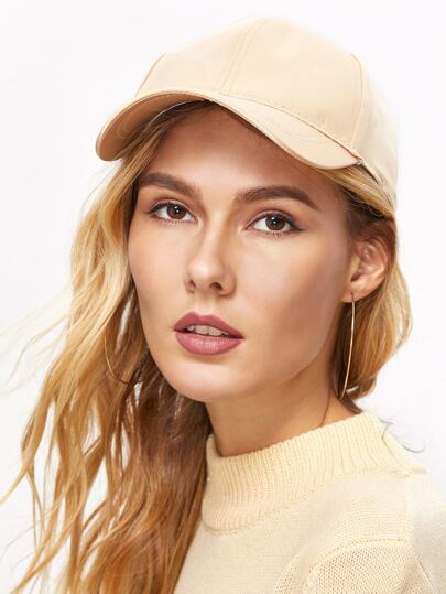 Gold Satin Casual Baseball Cap