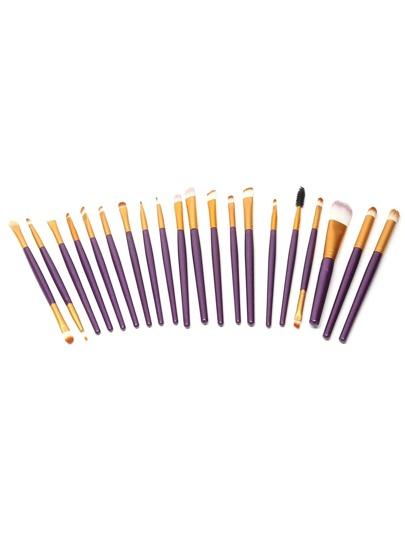 набор фиолетовых рофессиональных кистей для макияжа