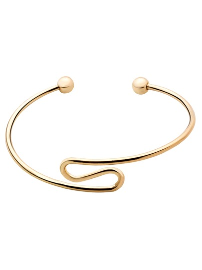 Gold Plated Minimalist Open Wrap Bangle
