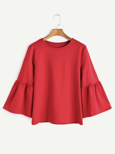 Camiseta de manga farol - rojo