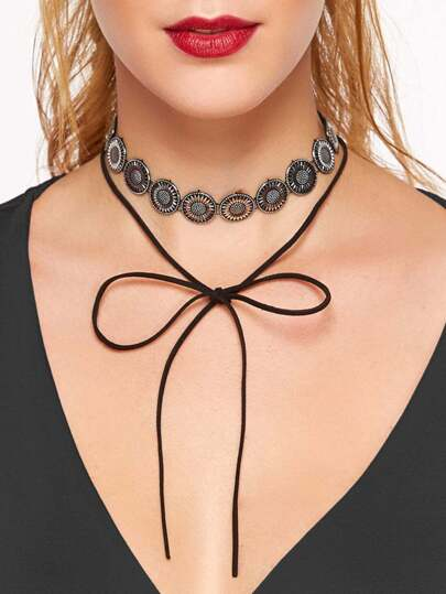 Bohemia Rounds Link Layered Linear Choker