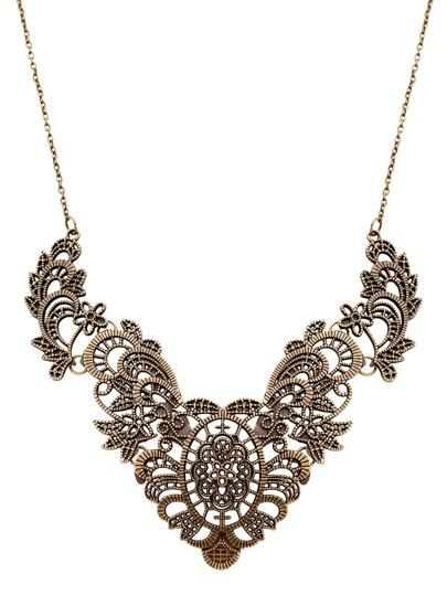 Halskette mit Aushölen Bib