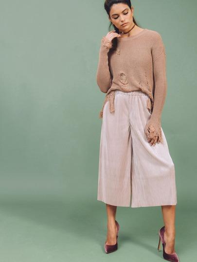 Pantalones crop - rosa