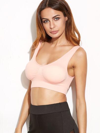 Pink Scoop Neck Sport Lingerie