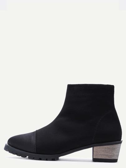 чёрные замшевые ботинки на пробкавых каблуках