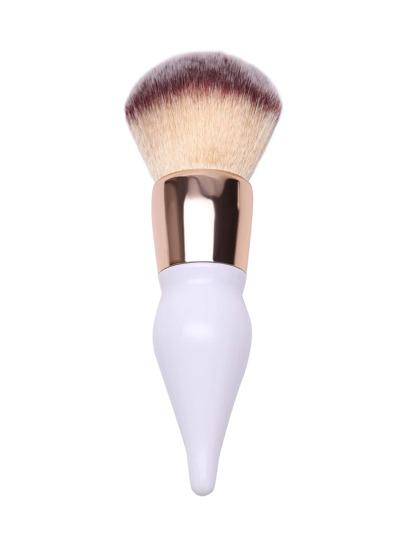Белый модный инструмент для очищения пуховки