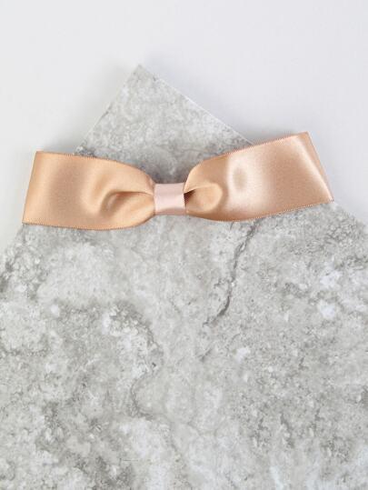Satin Ribbon Choker Necklace KHAKI