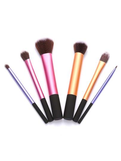 6Pcs Professional Multicolor Makeup Brush Set