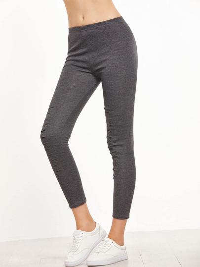 Leggings rotos - gris oscuro