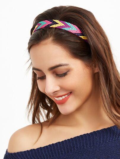 Multicolor Braided Geometric Boho Style Headband